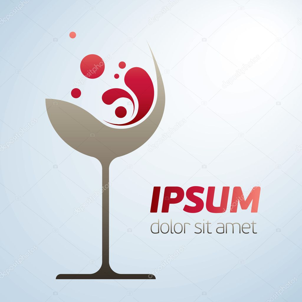 Abstract wine glass symbol