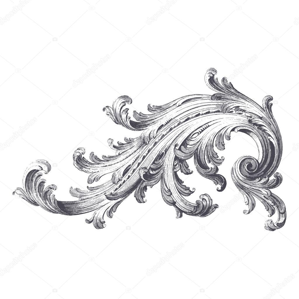 Rouleau de feuilles d 39 acanthe image vectorielle enginkorkmaz 35221633 - Feuille d acanthe ...