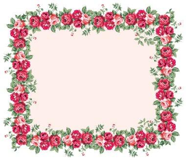 Shabby Rose Frame