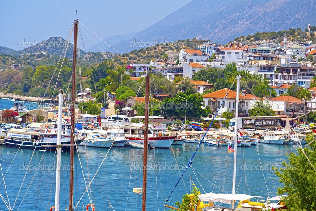 Antalya, Türkiye'nin yakınlarında kaş kasaba