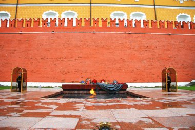 The tomb of the Unknown Soldier at the wall of Kremlin