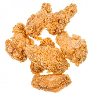 Several hot fried chicken wings