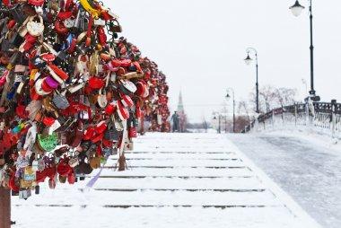 Love Tree on Luzhkov bridge in Moscow