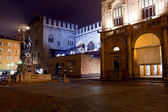 Photo Fountain of Neptune in Bologna at night