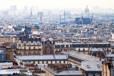 Paris city with Pantheon, France