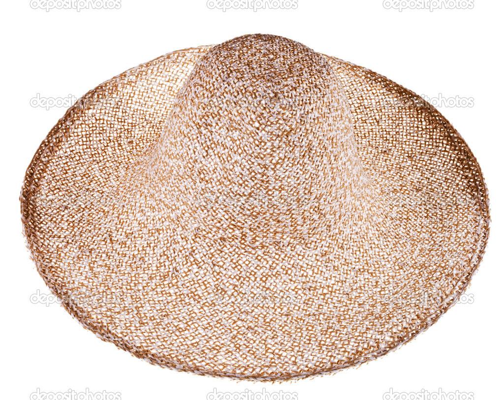 jednoduché letní slaměný klobouk široký okraj — Stock Fotografie ... b33d2b4d85