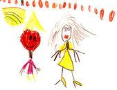 dětská kresba - cirkusová show