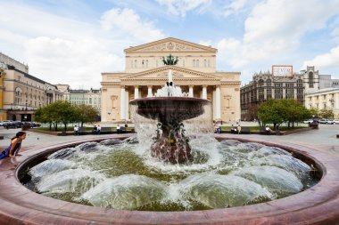 view of Fountain and Bolshoi Theater in Moscow