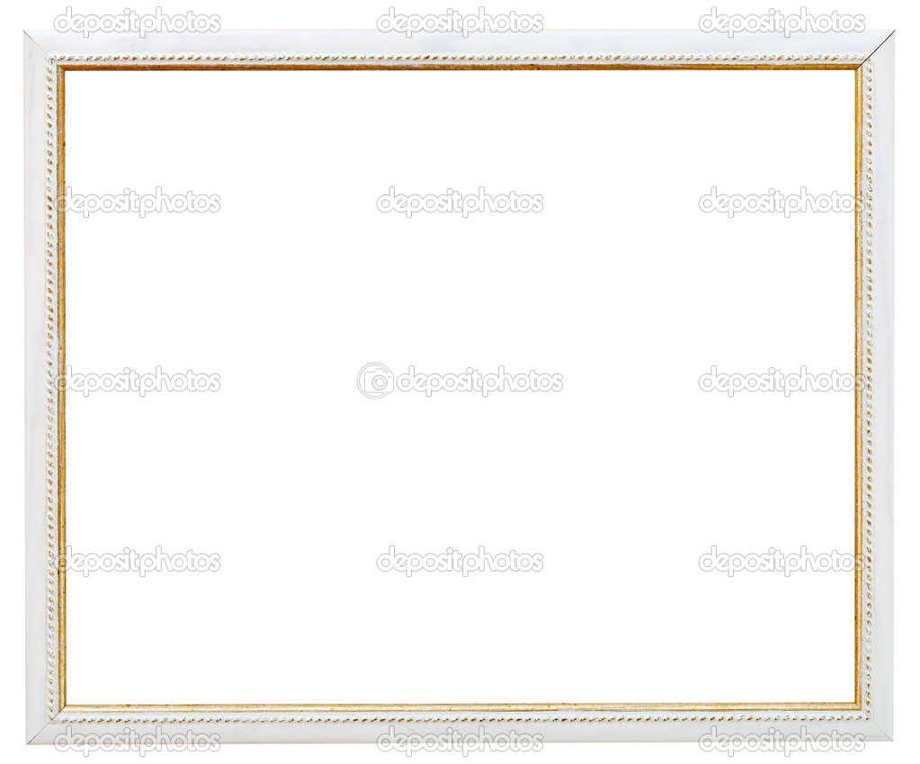 Vintage schmale weiße Bilderrahmen — Stockfoto © vvoennyy #29686439