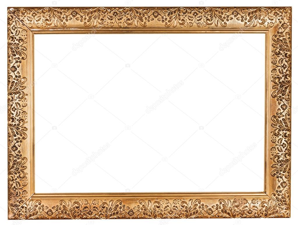 antiguo barroco marco ancho dorado — Foto de stock © vvoennyy #29686449