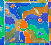 abstract pattern of cold painted batik