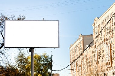 white cut out poster panel advertising