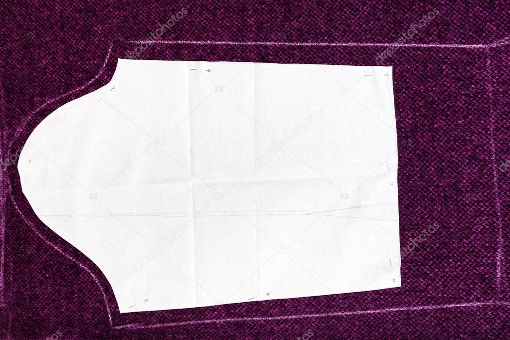 Tracing Paper Of Dress Pattern Cutting Stock Photo © Vvoennyy Magnificent Pattern Tracing Paper