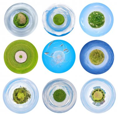 spherical views of agricultural landscapes
