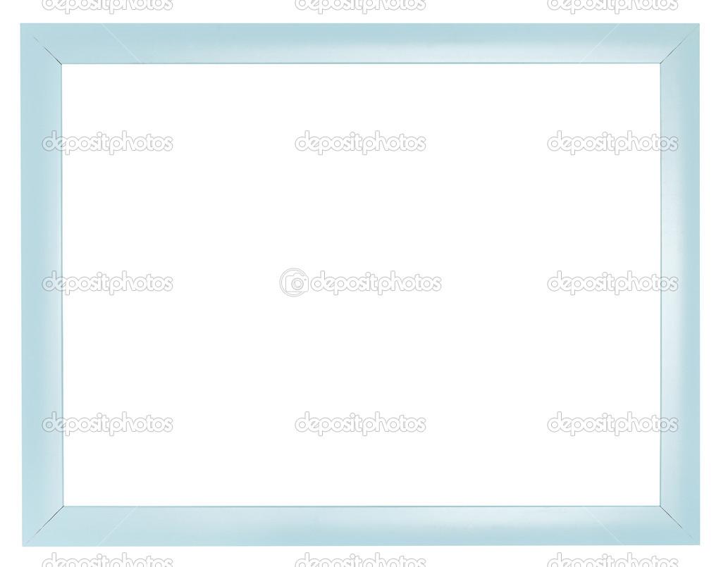 marco plano simple cuadro plástico azul — Foto de stock © vvoennyy ...