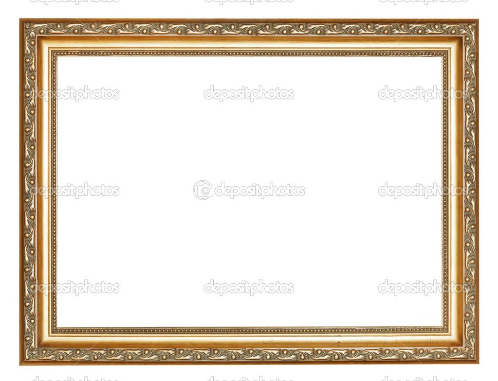 ancho tallado antiguo oro marco de madera — Foto de stock © vvoennyy ...