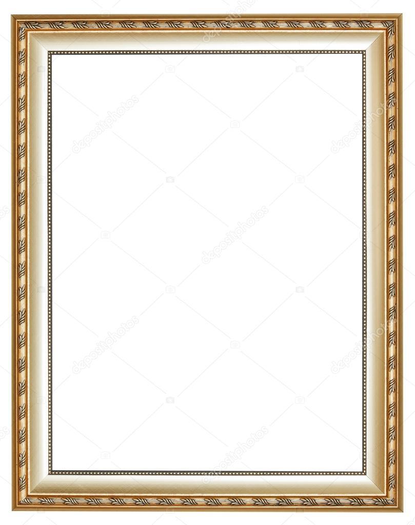 marco de fotos madera clásico plata antigua vertical — Foto de stock ...