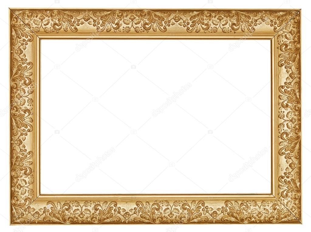 antiguo oro tallado ancho marco de madera — Foto de stock © vvoennyy ...