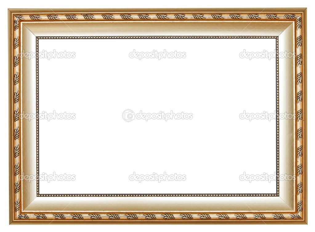 Antike Silber klassische breite hölzerne Bilderrahmen — Stockfoto ...