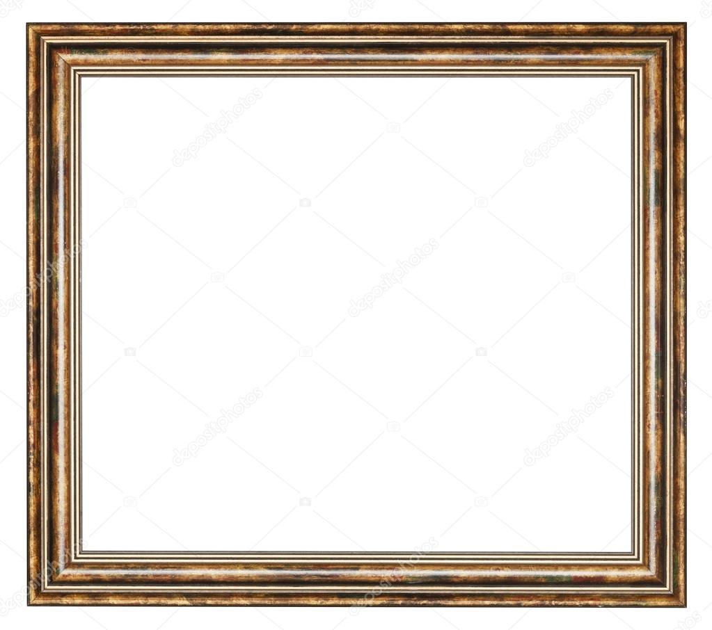 Vintage classic Quadrat aus Holz Bilderrahmen — Stockfoto © vvoennyy ...