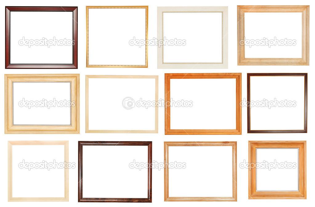 conjunto de marcos de madera ancho — Foto de stock © vvoennyy #45098499