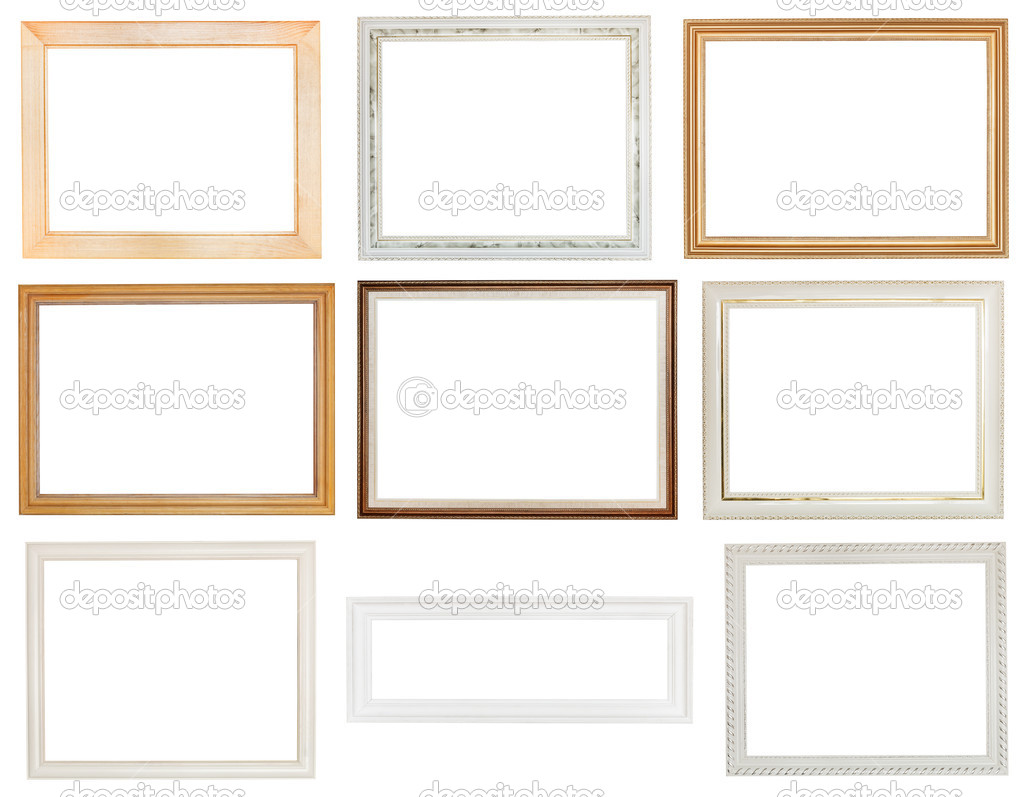 wide white panoramic wooden picture frame — Stock Photo © vvoennyy ...