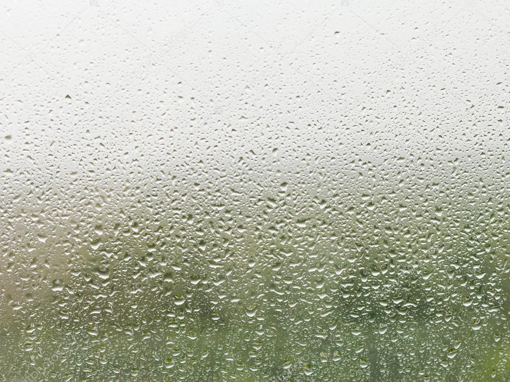 raindrops on home window pane