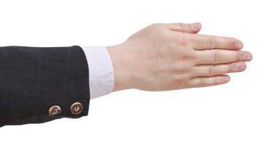 five fingers together - hand gesture