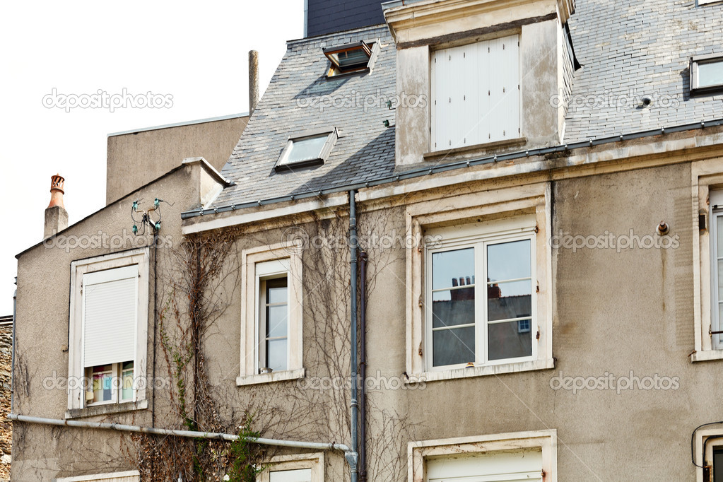 Fachada De Antiguas Casas Urbanas En Angers Francia Fotos De - Fachadas-antiguas-de-casas