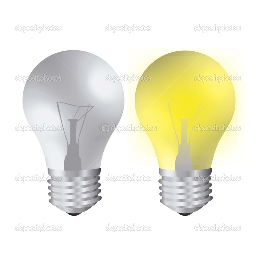 Bulb On And Off Stock Vector Grgroupstock 12783629
