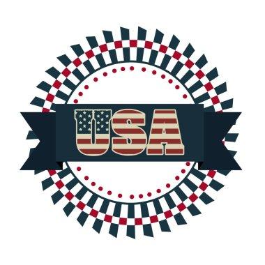Illustration Patriotic United States of America, USA, vector illustration stock vector