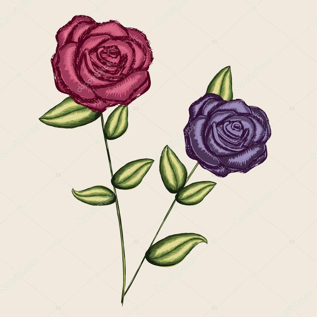 Disenos De Rosas Archivo Imagenes Vectoriales C Grgroupstock 26068491 - Diseos-de-rosas