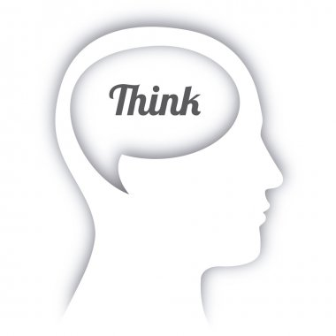 Think design over white background vector illustration clip art vector