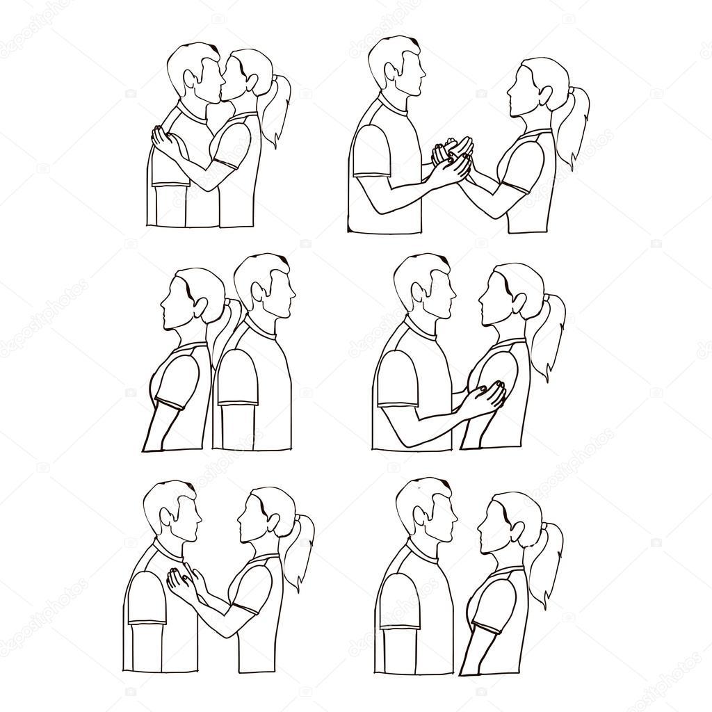 カップルのポーズ — ストックベクター © grgroupstock #28532727
