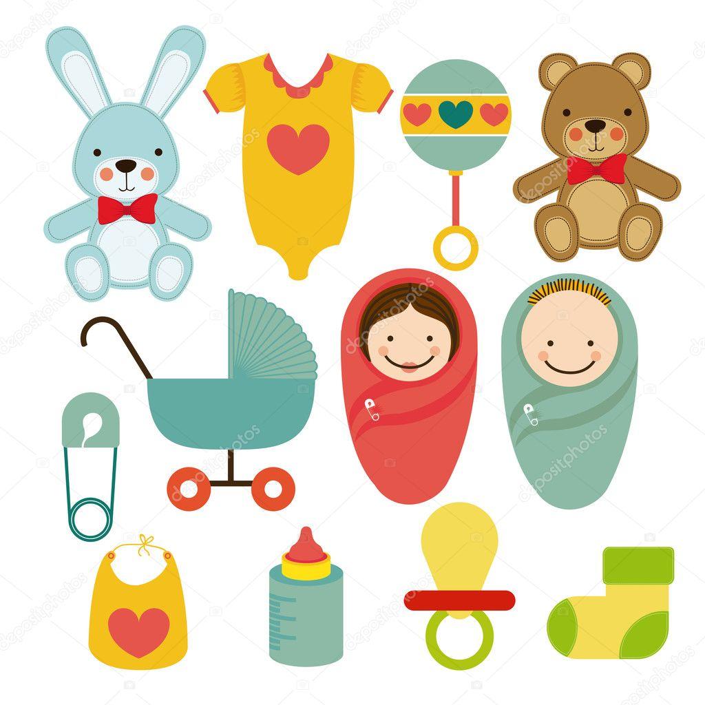 Amado desenho de chá de bebê — Vetores de Stock © grgroupstock #30520017 ST98