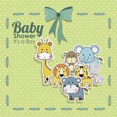 Fotografie Baby Shower Tiere Ikonen