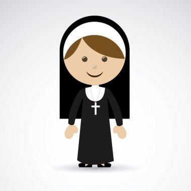 Nun design over gray background vector illustration stock vector