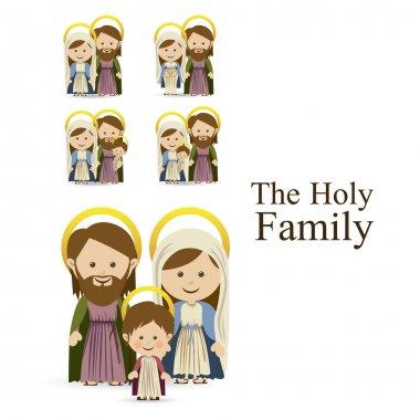 Holy family design over white background vector illustration stock vector