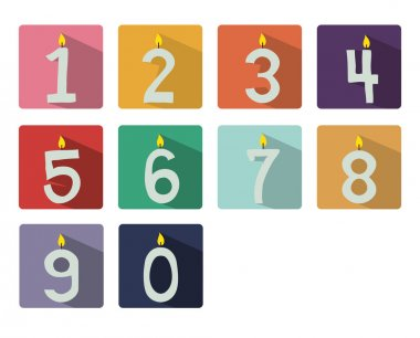 Numbered candles