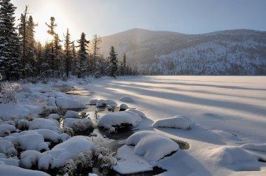 The Lake Marankuli. Winter