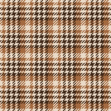 Seamless brown Gingham comprised by threads