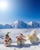 Photo Happy snowman friends