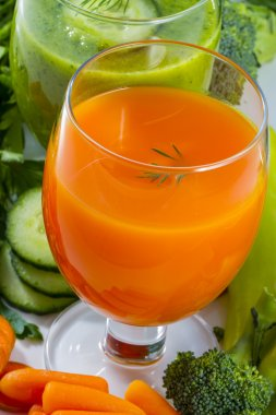 Healthy diet, fresh vegetable juices