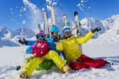 lyžování, zima, sníh, lyžování, slunce a zábavy