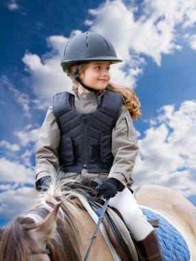 Horse riding, equestrian girl