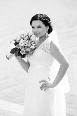 Beautiful bride stock vector