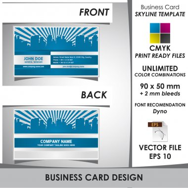 Modern Business Card Skyline Template