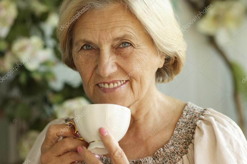 Mature Woman With Tea Cup Stock Photo C Aletia 30432427
