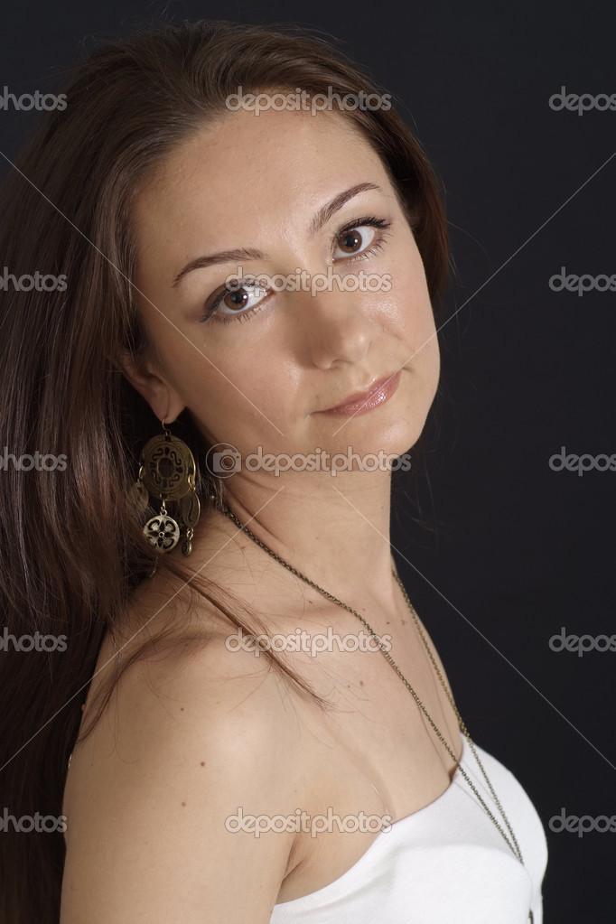 gutaussehende weiße Mädchen