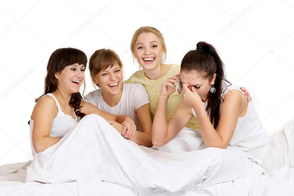 Belle ragazze sul letto foto stock aletia 32401861 - Foto di donne sul letto ...
